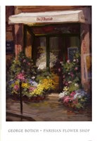 Parisian Flower Shop Fine Art Print