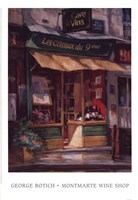 Montmarte Wine Shop Fine Art Print