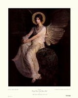 Winged Figure Seated Upon A Rock Fine Art Print