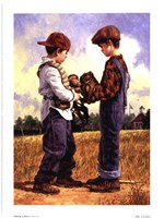 Talking It Over Fine Art Print