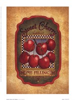 Sweet Cherry Pie Filling Framed Print