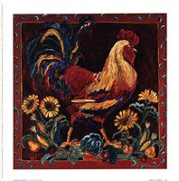 Rooster Rustic Fine Art Print