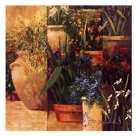 Flower Pots Left Fine Art Print