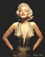 Marilyn Monroe (Gold) Wall Poster