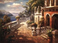 Seaside Terrace Fine Art Print