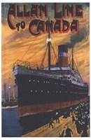 Allan Line To Canada Fine Art Print