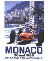 Grand Prix Monaco 30 Mai 1965 Framed Print