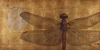 Dragonfly On Gold Fine Art Print
