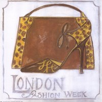 Couture - London Fashion Week - Leopard Shoes Fine Art Print