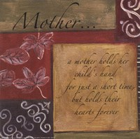 Words to Live By - Mother Fine Art Print