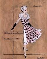 50's Dept Store Ads Elegant Style Fine Art Print