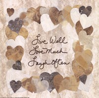 Live Well, Love Much, Laugh Often Fine Art Print