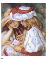 Duex jeunes filles lisant Fine Art Print