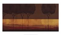 Autumn Silhouettes I Framed Print