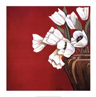 Tulips on Red Fine Art Print