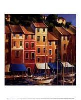 Portofino Waterfront Fine Art Print