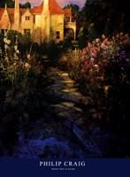 Garden Walk at Sunset Fine Art Print