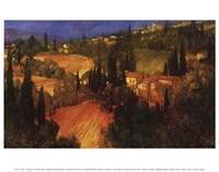 Hillside - Tuscany Framed Print