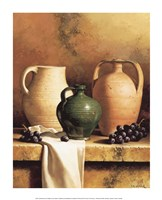 Earthenware with Grapes Fine Art Print