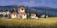 Hillside Village Fine Art Print