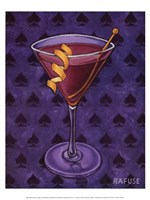 Martini Royale - Spades Framed Print