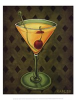 Martini Royale - Diamonds Framed Print