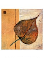 Leaf Impression - Ochre Framed Print