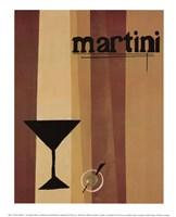Groovy Martini I Framed Print