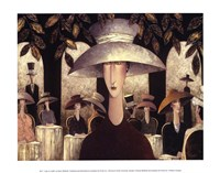 Lady in a Cafe Fine Art Print