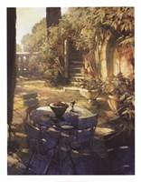 Sunlit Terrace, Crillon le Brave Fine Art Print