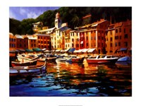 Portofino Colors Framed Print