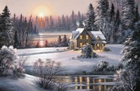 Winter Sunset Fine Art Print