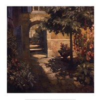 Courtyard in Provence Fine Art Print
