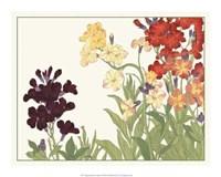 Japanese Flower Garden I Giclee