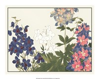 Japanese Flower Garden III Giclee