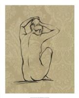 Sophisticated Nude I Framed Print