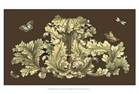 Small Nature's Splendor On Chocolate I Fine Art Print