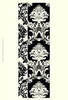 Damask In Black And Cream II Fine Art Print