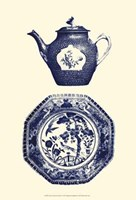 Manor Porcelain In Blue I Fine Art Print