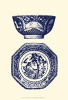 Manor Porcelain In Blue II Fine Art Print