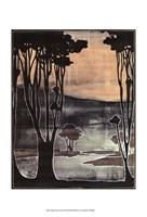 Small Nouveau Trees II Fine Art Print