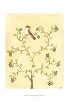 Berry Bird I Fine Art Print