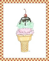 Ice Cream Parlor I Fine Art Print
