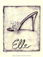 Elle- French Slipper Framed Print