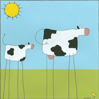 Stick-Leg Cow I Fine Art Print