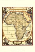 Small Nautical Map Of Africa Fine Art Print