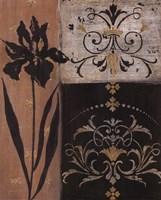 Iris Silhouette - black flower Fine Art Print
