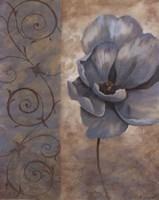 Fleur Bleue I Framed Print