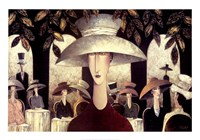 Lady in a Cafe Fine Art Print