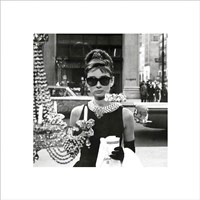 Audrey Hepburn – Window Framed Print
